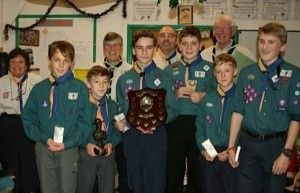 Scouts with shooting trophy